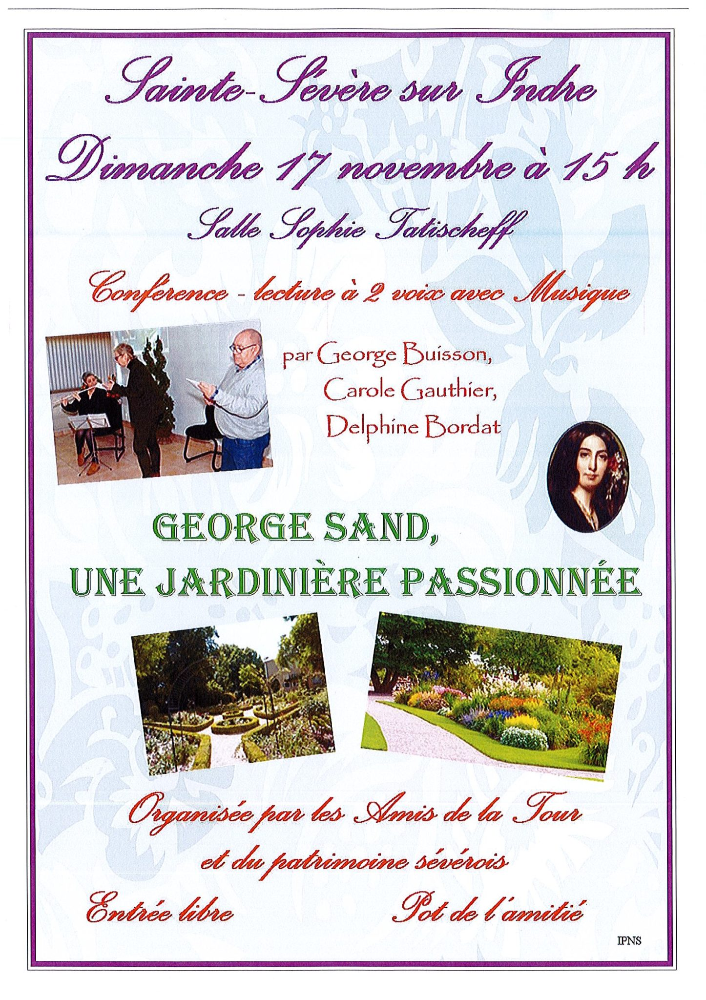 17 novembre – Conférence George Sand, une jardinière passionnée