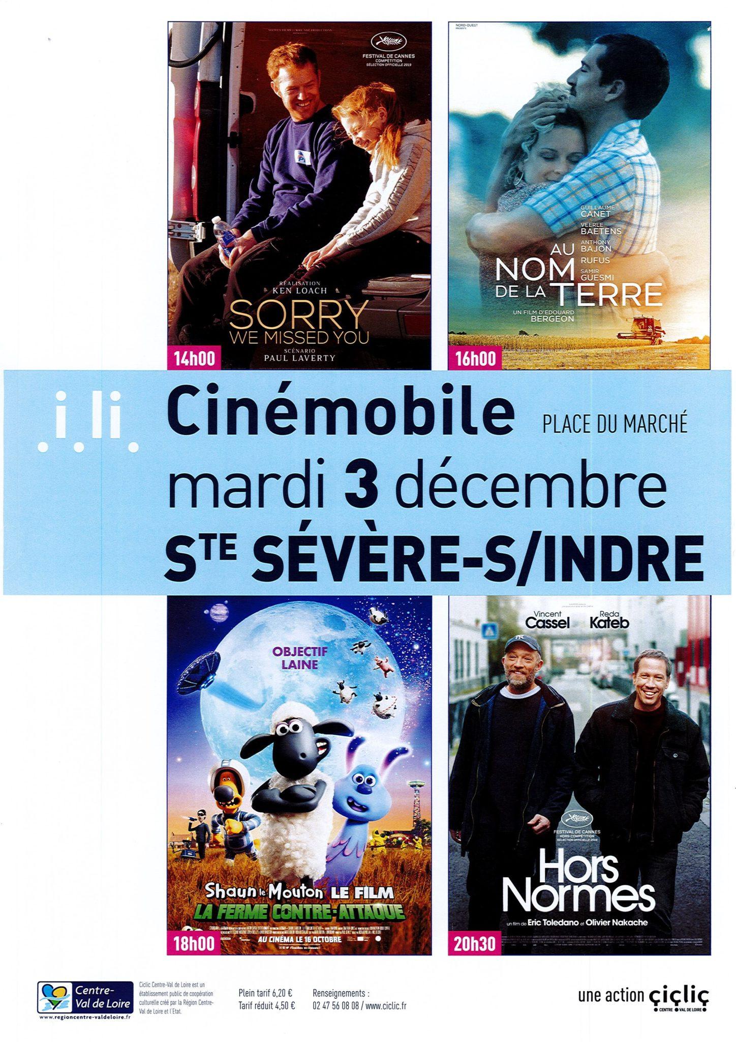 Mardi 3 décembre – Cinémobile