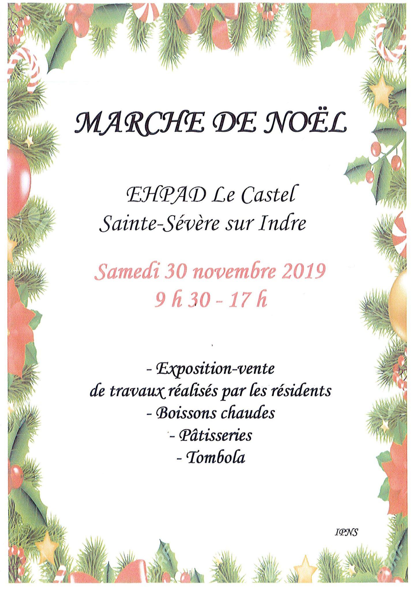 Samedi 30 novembre – Marché de Noël de l'EHPAD le Castel