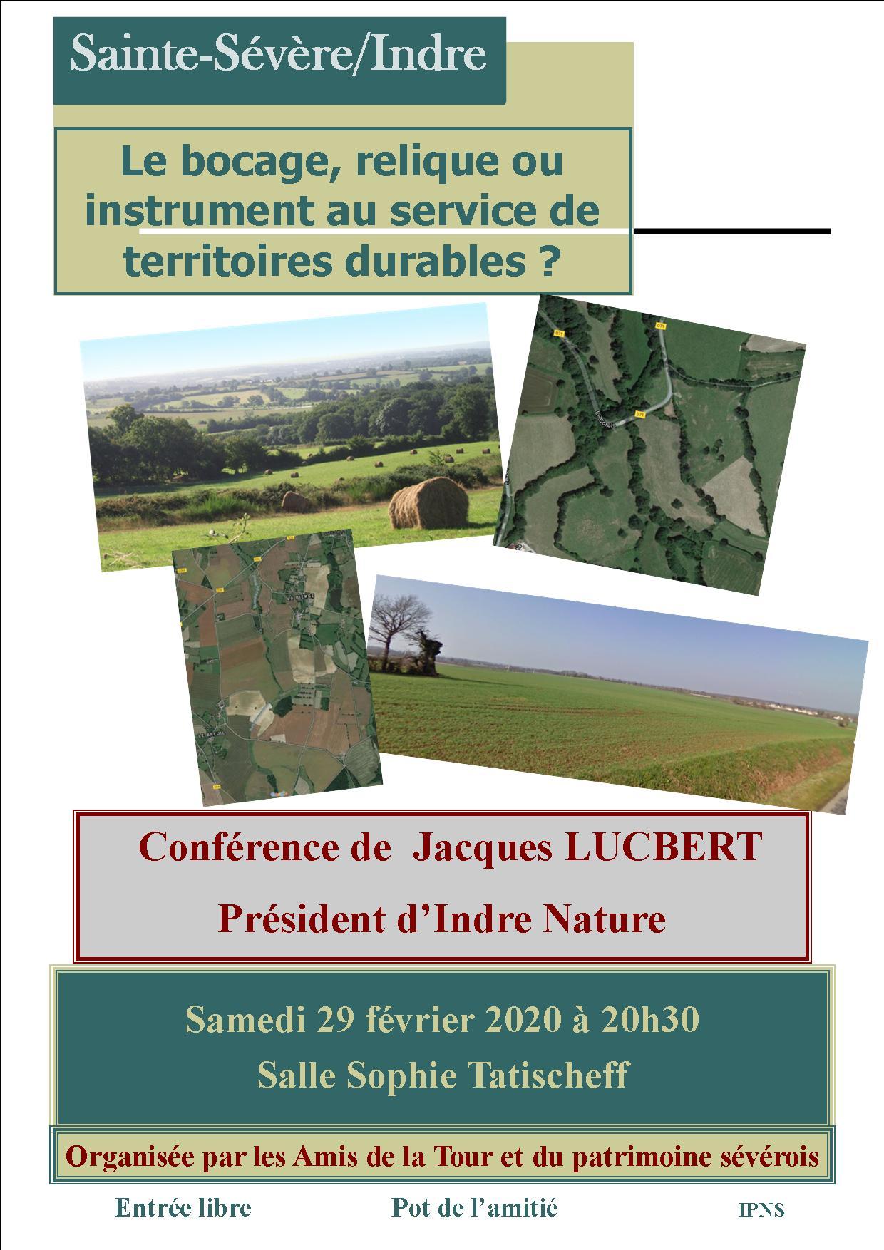 29 février 2020 – Conférence «Le bocage, relique ou instrument au service de territoires durables?»