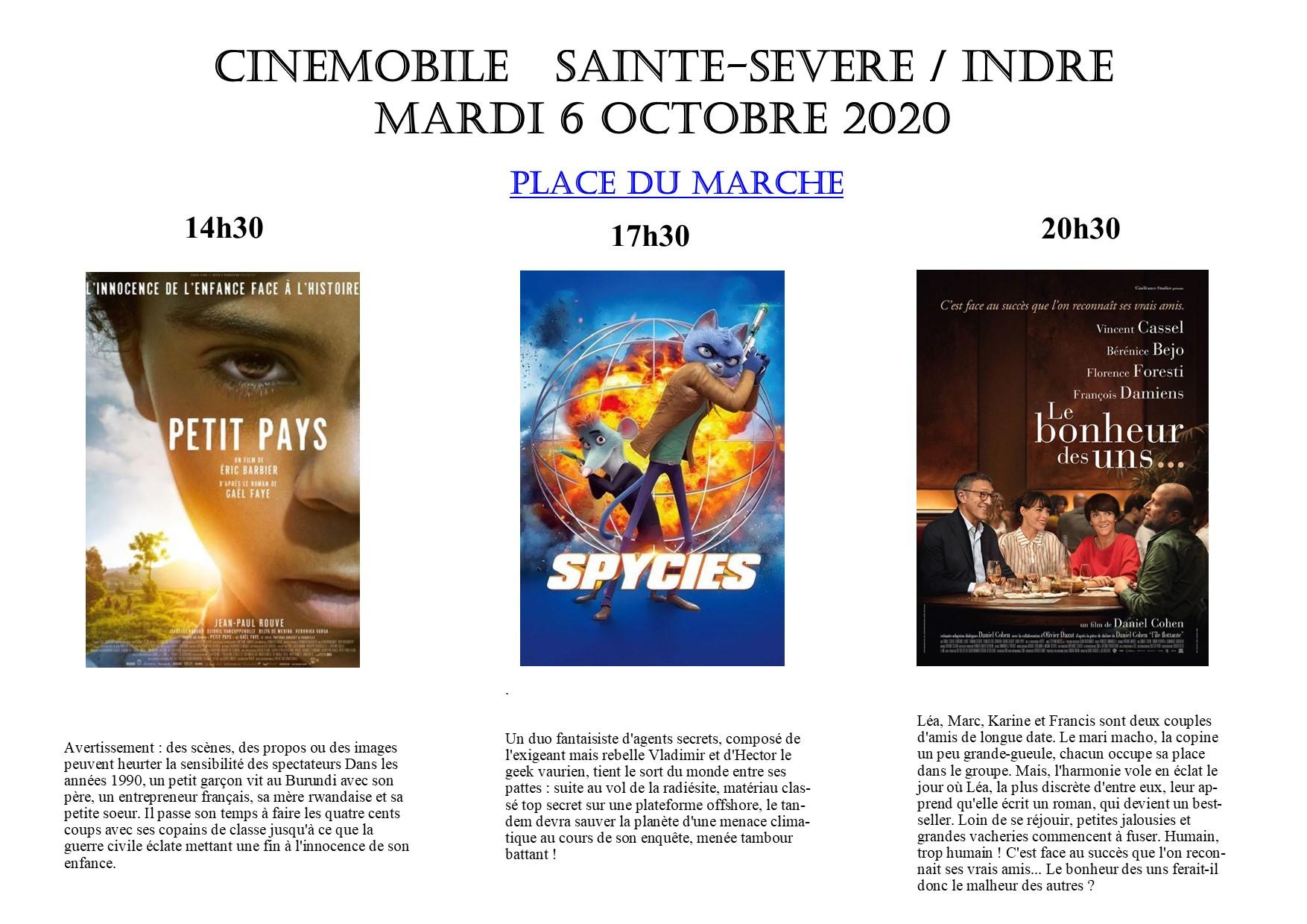 Cinémobile – mardi 6 octobre