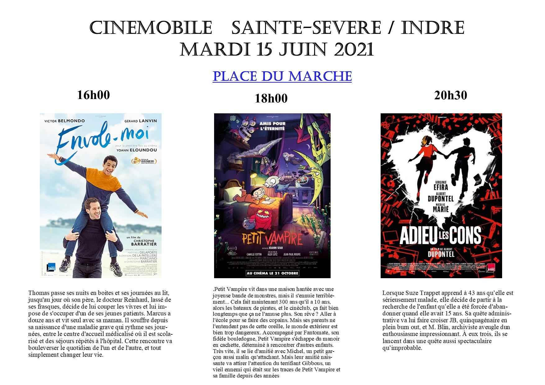 15 juin – Cinémobile