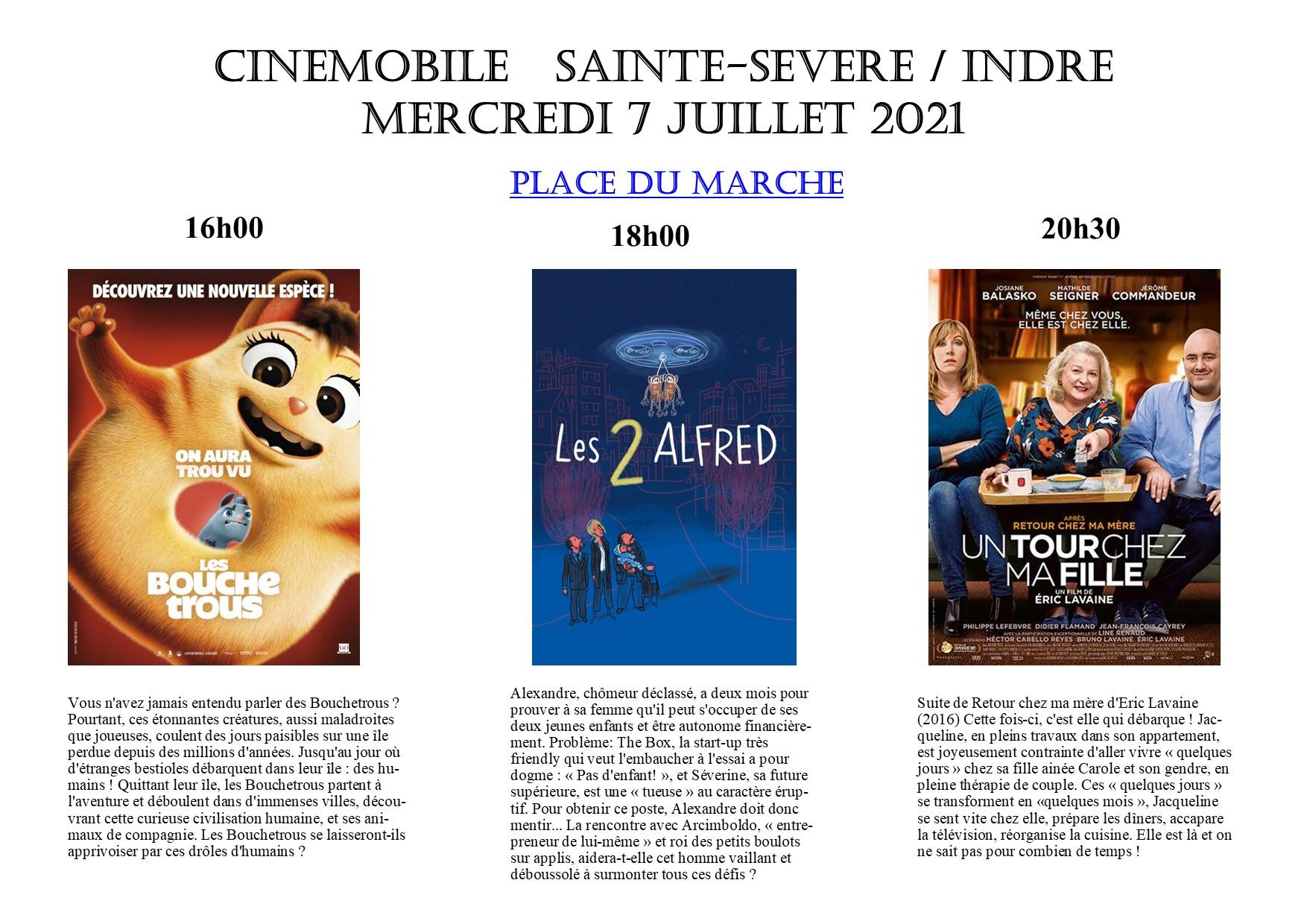 Mercredi 7 juillet – Cinémobile