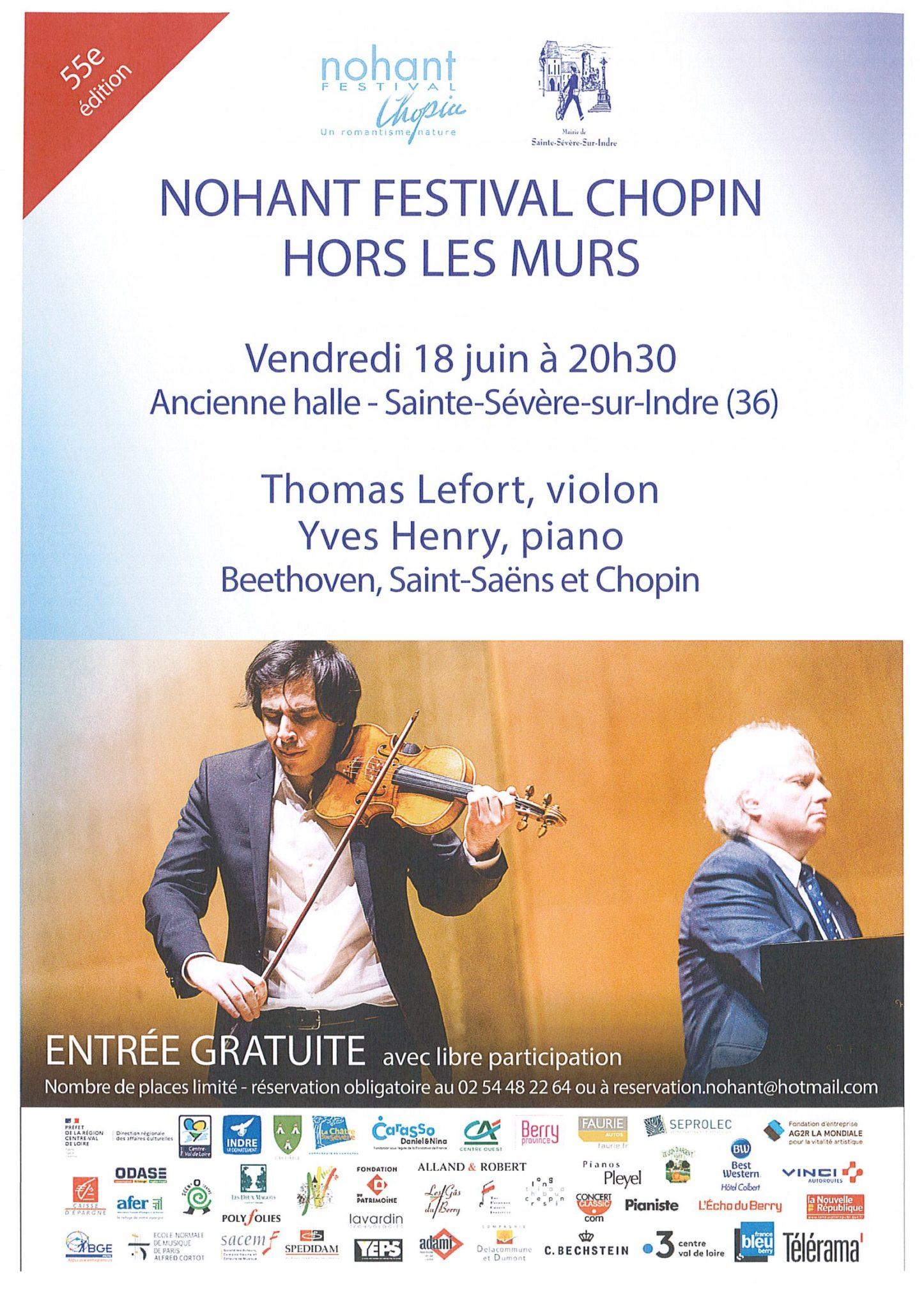 Vendredi 18 juin -Nohant festival Chopin Hors les murs