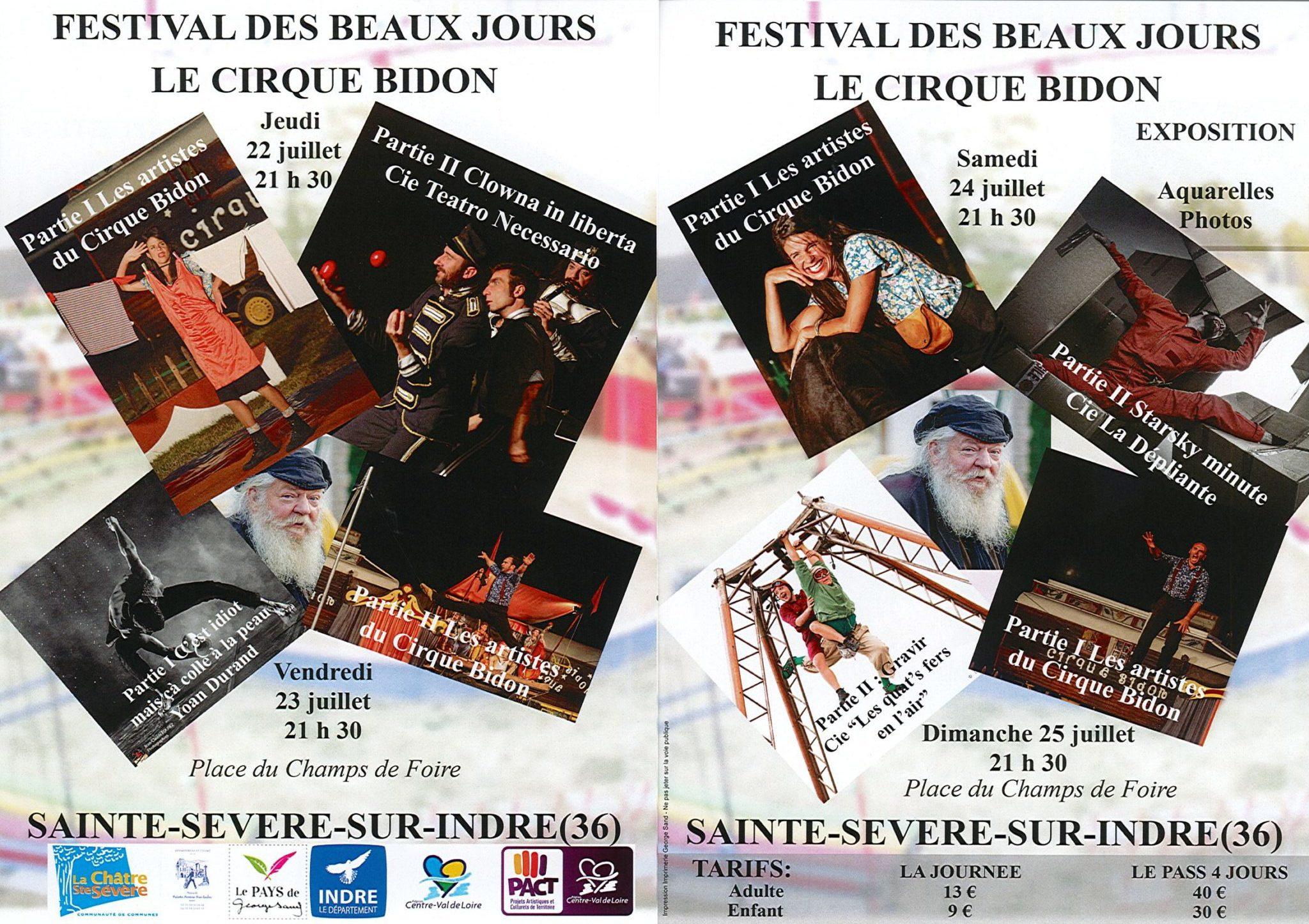 Du 22 au 25 juillet – Festival des beaux jours du Cirque bidon