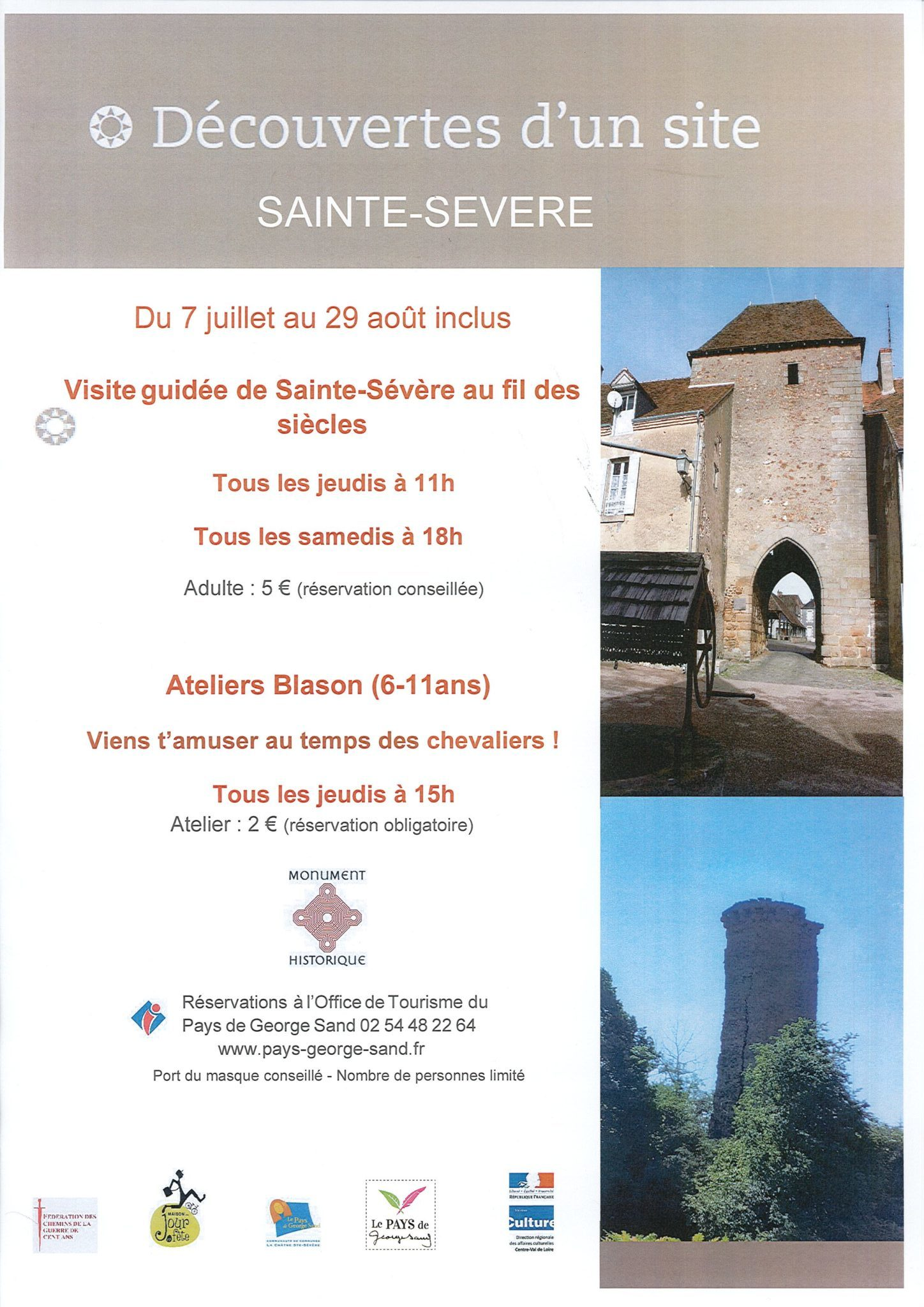 Visites de Sainte-Sévère